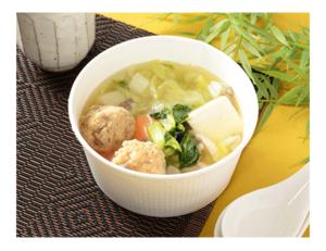 あご出汁香る鶏団子の和風スープ