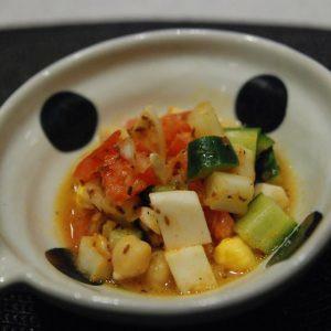 ひよこ豆のインドサラダ