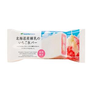 北海道産練乳のいちご氷バー