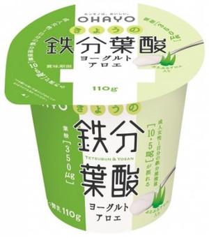 オハヨー乳業 きょうの鉄分葉酸ヨーグルト アロエ