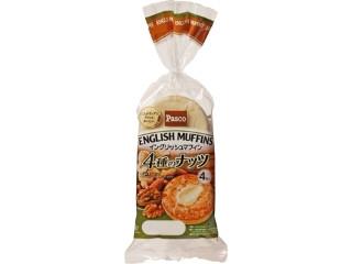 Pasco イングリッシュマフィン 4種のナッツ 袋4個