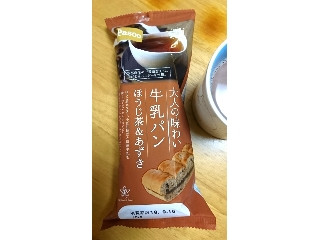 Pasco 大人の味わい 牛乳パン ほうじ茶&あずき 袋1個