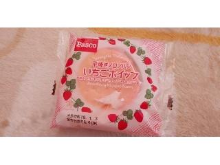 Pasco 平焼きメロンパン いちごホイップ 袋1個