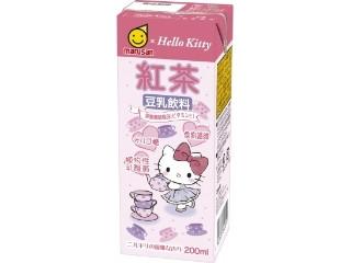 マルサン ハローキティ 豆乳飲料 紅茶 パック200ml