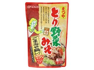 マルサン まつや とり野菜みそ ごまみそ鍋スープ 袋720g