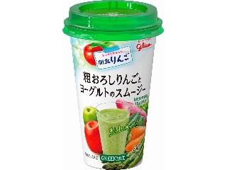 グリコ 朝食りんご 粗おろしりんごスムージーグリーンミックス カップ200g