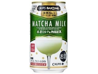 カルピス CALPIS BarTime 抹茶ミルク&カルピス 缶340ml