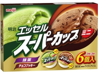 明治 エッセルスーパーカップミニ 抹茶&チョコクッキー 箱90ml×6個