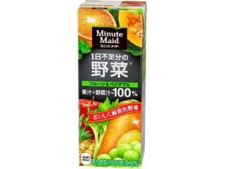 ミニッツメイド 1日不足分の野菜 フルーツ&ベジタブル パック200ml