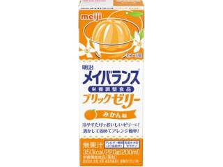 明治 メイバランス ブリックゼリー みかん味 パック220g