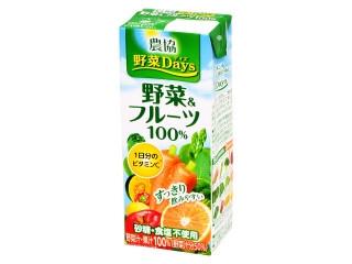 雪印メグミルク 農協 野菜Days 野菜&フルーツ100% パック200ml