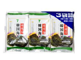 セブンプレミアム 韓国海苔 8切12枚3袋詰