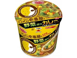 エースコック CoCo壱番屋監修 ミニ 野菜盛りカレーラーメン カップ40g