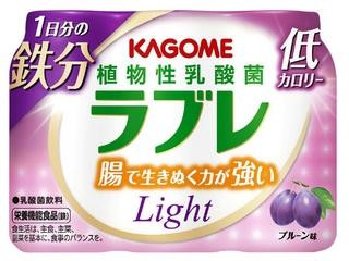 カゴメ 植物性乳酸菌ラブレ Light 1日分の鉄分 カップ80ml×3