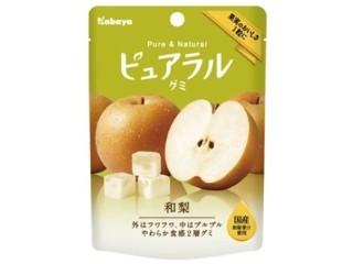 カバヤ食品 ピュアラルグミ和梨 ローソン先行商品 袋45g