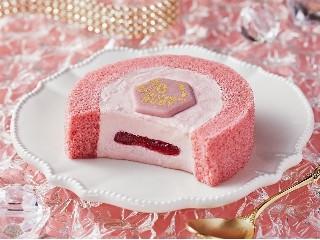 ローソン Uchi Cafe' SWEETS プレミアム ルビーチョコレートのロールケーキ