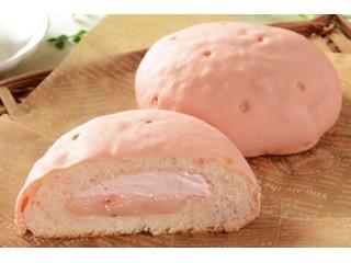 ローソン いちごづくしのしっとりメロンパン あまおういちごクリーム&ホイップ