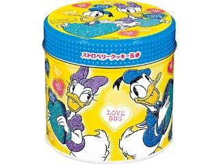 ブルボン ストロベリークッキー缶 ドナルド&デイジー 缶59g