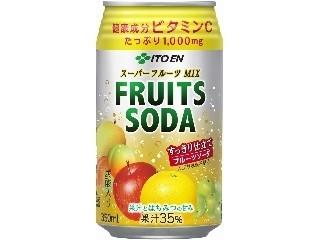 伊藤園 スーパーフルーツMIX フルーツソーダ 缶350ml