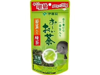 伊藤園 お~いお茶 若茎入り緑茶 増量タイプ 袋120g