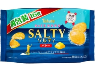 東ハト ソルティ バター ファミリーサイズ 袋16枚