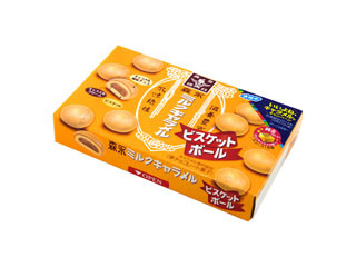 森永製菓 ミルクキャラメルビスケットボール 箱42g