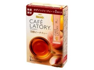 AGF ブレンディ カフェラトリー 芳醇ピーチティー ゆずジンジャーティー+1本入り 箱8本