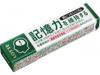ロッテ 歯につきにくいガム 記憶力を維持する ほろにがミント 12粒