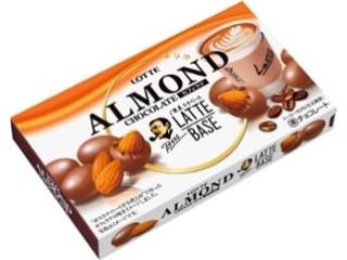 ロッテ アーモンドチョコレート カフェラテ 箱74g