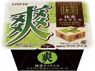 ロッテ 爽 抹茶ティラミス かろやか抹茶&マスカルポーネ カップ190ml