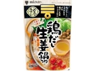 ミツカン 〆まで美味しい 鶏だし生姜鍋つゆストレート 袋750g