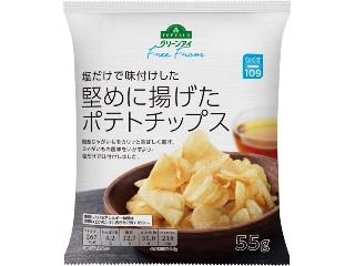トップバリュ グリーンアイ Free From 塩だけで味付けした堅めに揚げたポテトチップス 袋55g