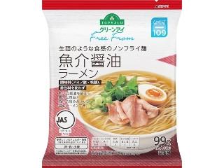 トップバリュ グリーンアイ Free From 生麺のような食感のノンフライ麺 魚介醤油ラーメン 袋99g
