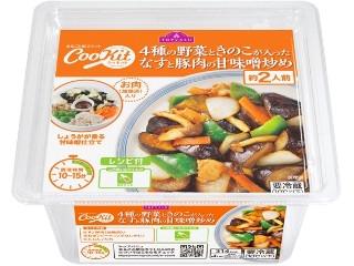 トップバリュ CooKit 4種の野菜ときのこが入った なすと豚肉の甘味噌炒め
