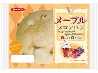 メープルメロンパン りんごとぶどう入り