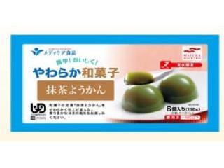 メディケア食品 簡単!おいしく!やわらか和菓子 抹茶ようかん 22g×6