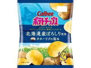 カルビー ポテトチップス 北海道産ぽろしり使用 オホーツクの塩味 袋60g