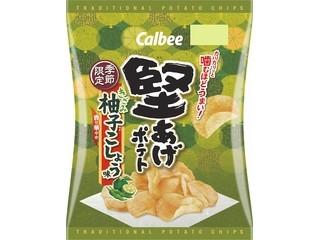 カルビー 堅あげポテト きざみ柚子こしょう味 袋60g