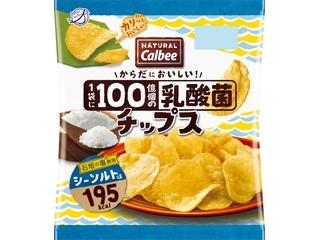 カルビー NATURAL Calbee 1袋に100憶個の乳酸菌チップス シーソルト味 袋38g