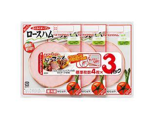 プリマハム 新鮮!使い切り ロースハム3連 パック4枚×3