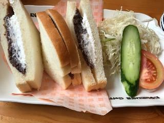 コメダ珈琲 昼コメプレート 小倉ホイップサンド