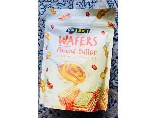 ジュリーズ キューブウエハース ピーナッツバター 袋150g
