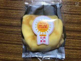 ミルクワークス ごろっと白桃&黄桃クレープ 1個