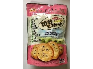 エグザクト 10穀ビスケット ストロベリーチップ入り 12枚入り(3枚×4袋)