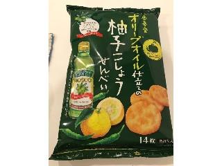 オリーブオイル仕立ての柚子こしょうせんべい