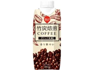 スジャータめいらく 竹炭焙煎コーヒー ブラック無糖 パック330ml