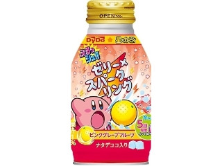 DyDo ぷるっシュ!! ゼリー×スパークリング ピンクグレープフルーツ 星のカービィパッケージ 缶270g