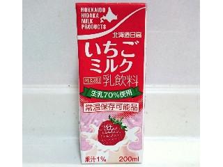北海道日高乳業 いちごミルク パック200ml