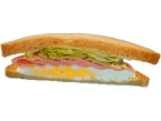 デイリーヤマザキ ハムたまごサンド 全粒粉入り食パン使用