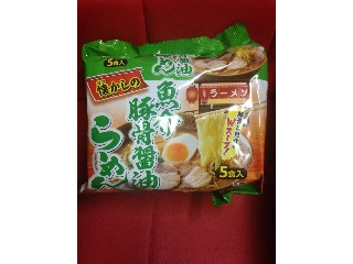 なつかしの魚介豚骨醤油ラーメン